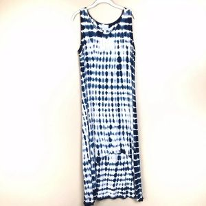 New with tags dress barn tie-dye dress blue